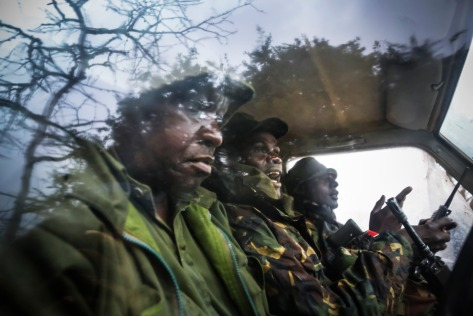 Rangers preparing to patrol at Ol Pejeta Conservancy.
